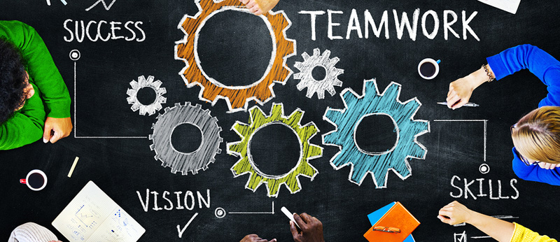 People working together as team to focus on your success