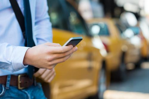 Image of person using a mobile phone